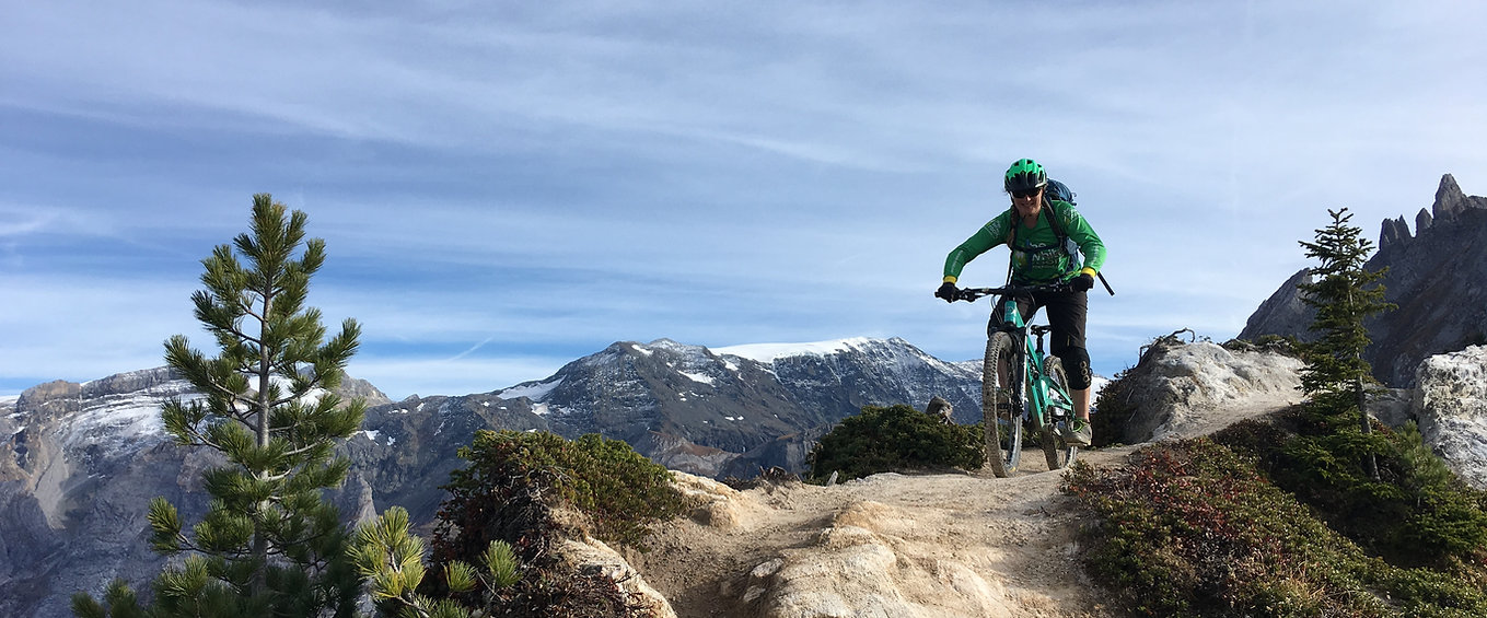 White Room Mountain Biking guide Iona McDonald on an epic backounty ride