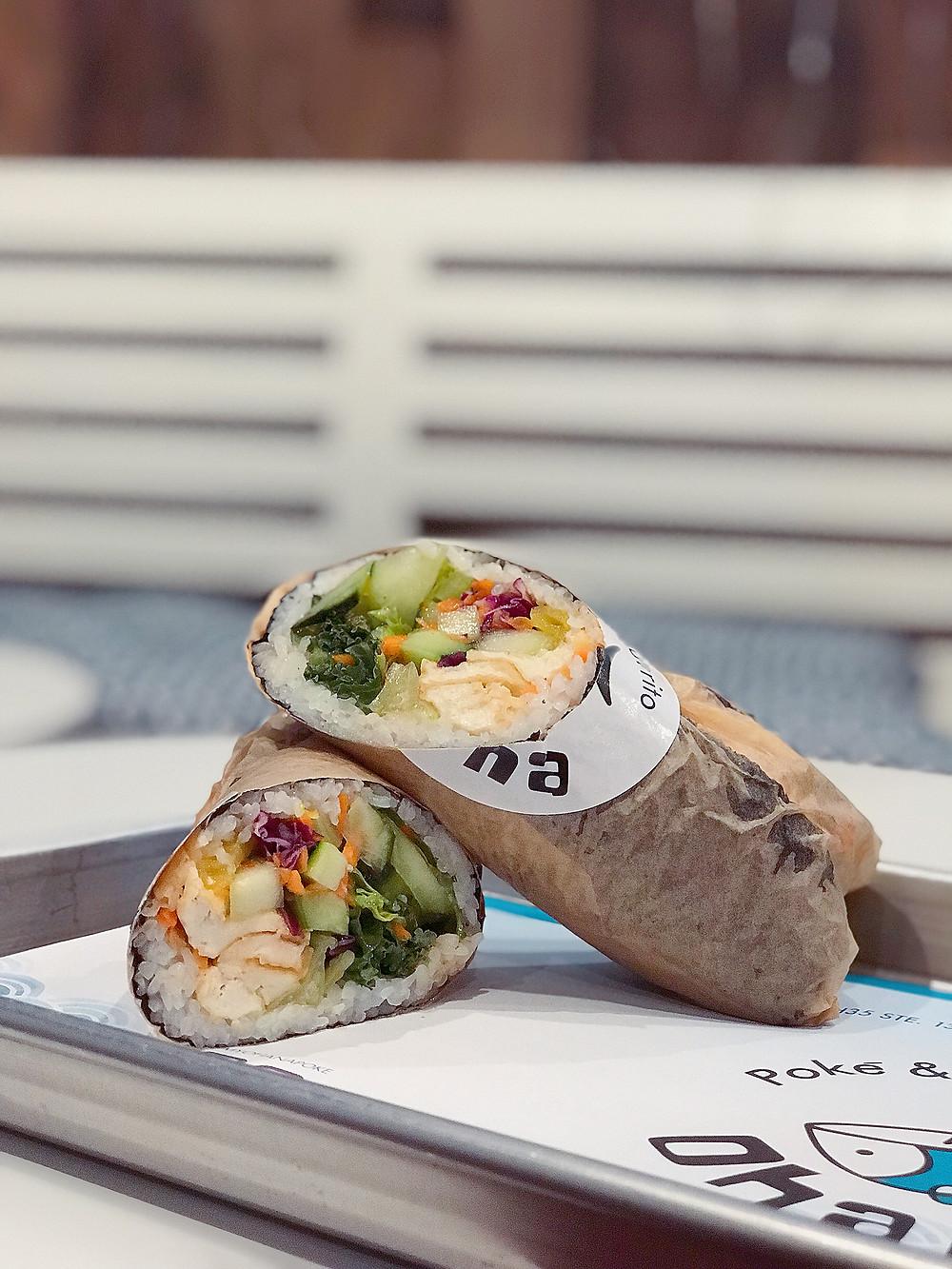 Poke burrito New Braunfels, Vegetarian food in New braunfels, Keto food new braunfels, New Braunfels top restaurants, top ten restaurants in New Braunfels, Ohana Poke and Sushi Burrito, Ohana new braunfels