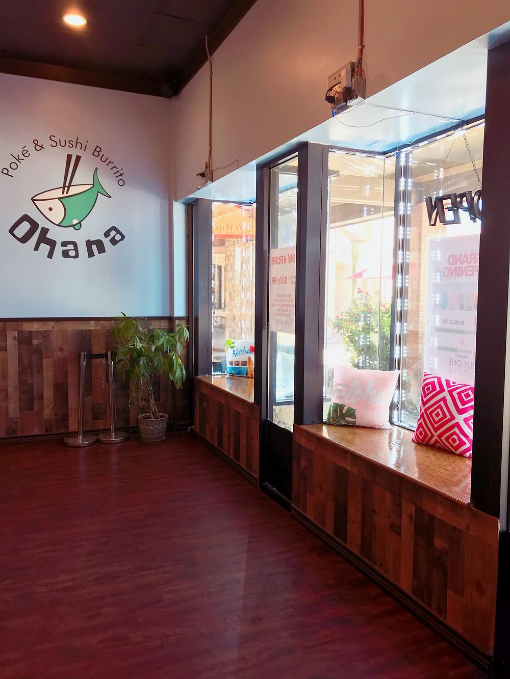 Ohana sushi & burrito entrance, sushi restaurant in New Braunfels, New Braunfels foodie, New Braunfels top ten restaurants, New Braunfels Yelp