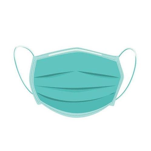 Медицинская одноразовая маска  на резинках (СМС)