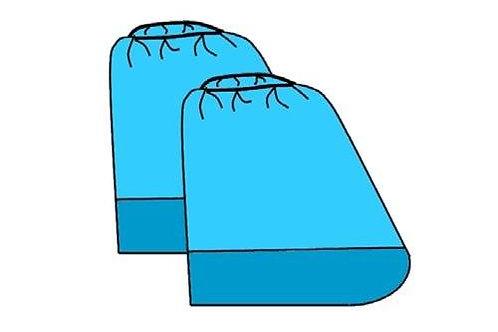 Высокие бахилы с двойной подошвой (СПАНБОНД)