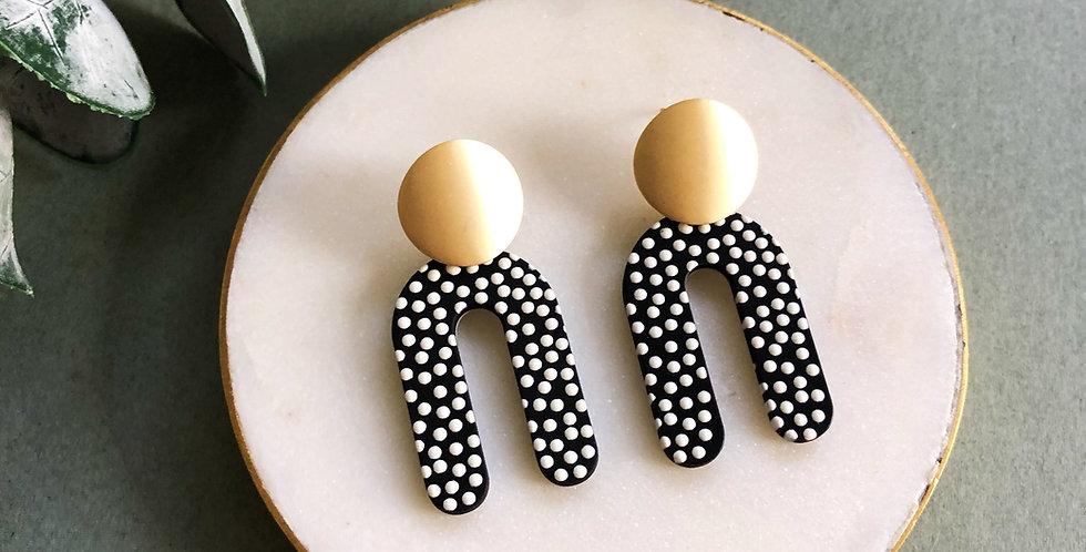 Polka Dot Earrings - Gold - Jack and Fred