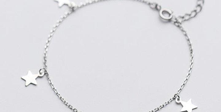 Four Star Stirling Silver Bracelet.