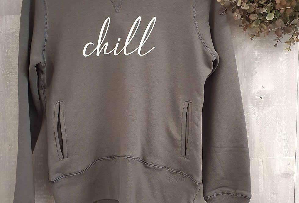 Chill BB Organic Hoodie - French Grey