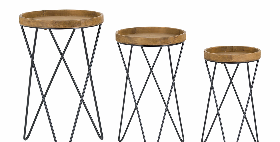 Loft Collection of Three Sides Tables
