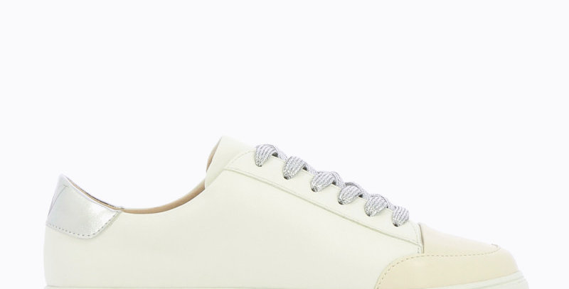 Vanessa Wu - White Sneakers with SilverLace