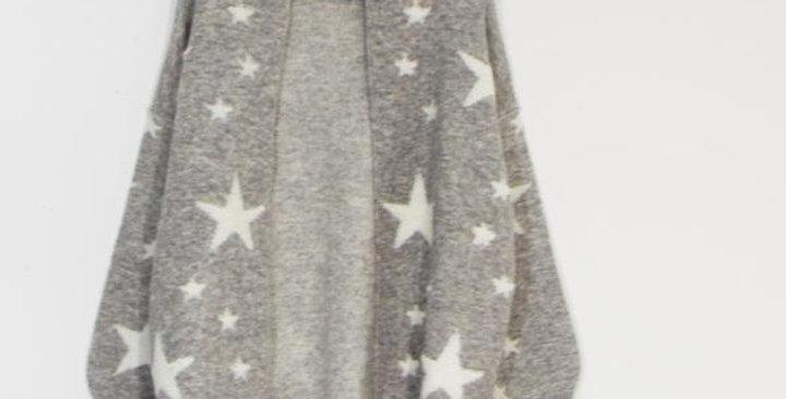 Soft Touch Star Cardigan - Grey