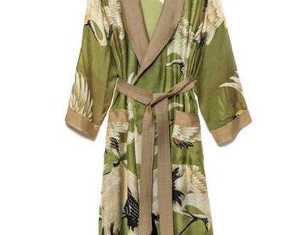 Stork Gown - Green - One Hundred Stars