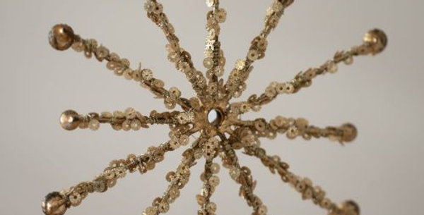 Gold Jewelled Snowflake Christmas Decoration