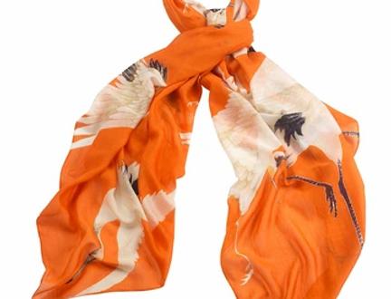 Stork Scarf -   Orange - One Hundred Stars
