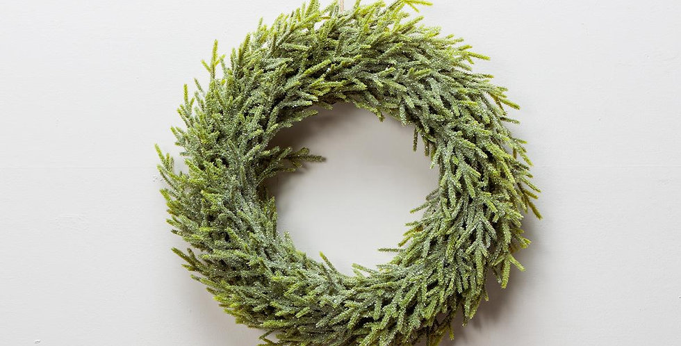 Frosted Faux Pine Wreath