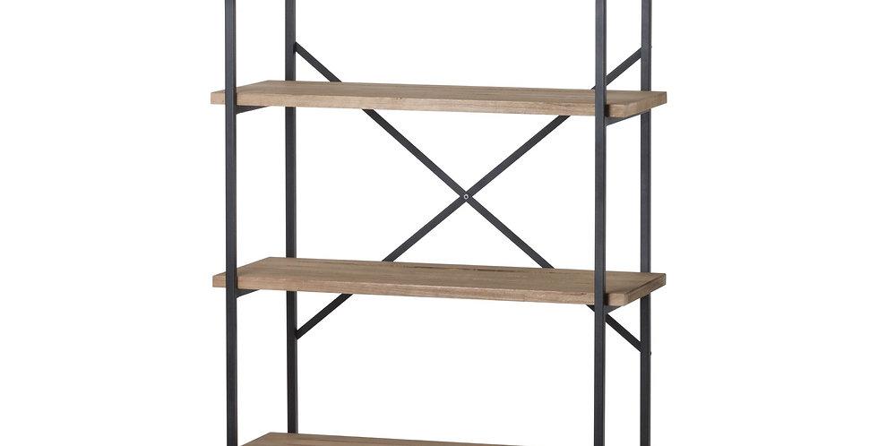 Industrial Style Four Tier Cross Section Shelf Unit