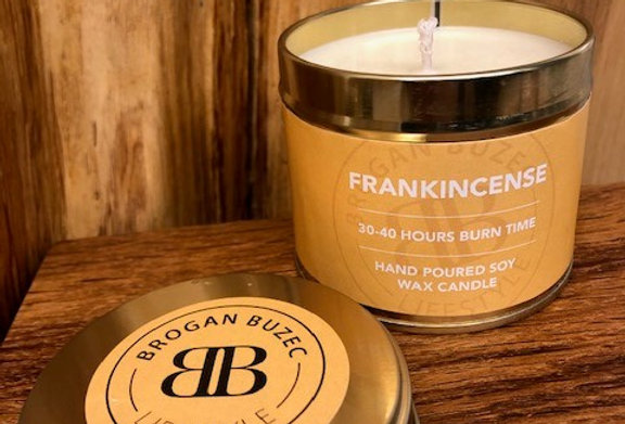 Frankincense Soy Wax Tin Candle
