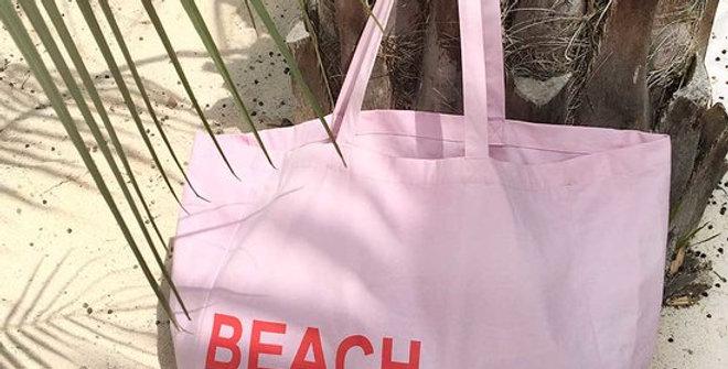 'Beach Please' Organic Cotton Beach Bag