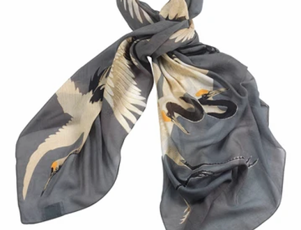Stork Scarf - Slate Grey - One Hundred Stars