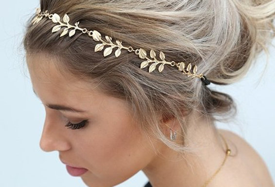 Boho Gold Leaves Hairband