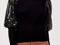 Sequin Puff Sleeve Jumper