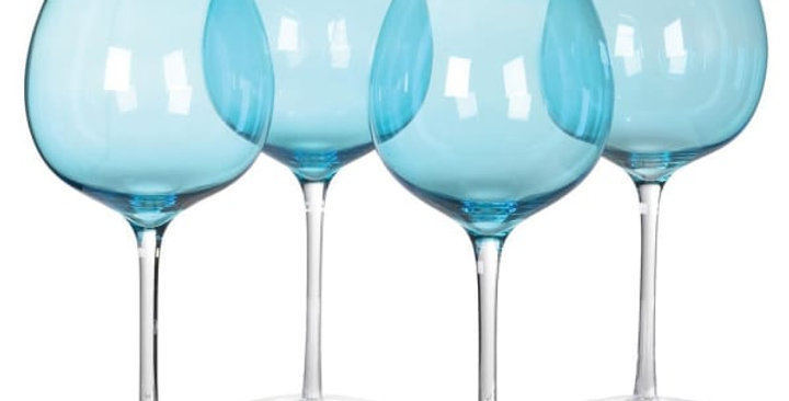 Large Gin Glass - Blue