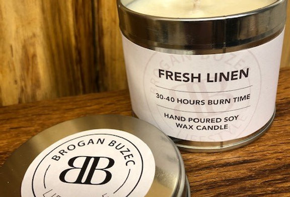 Fresh Linen Soy Tin Candle
