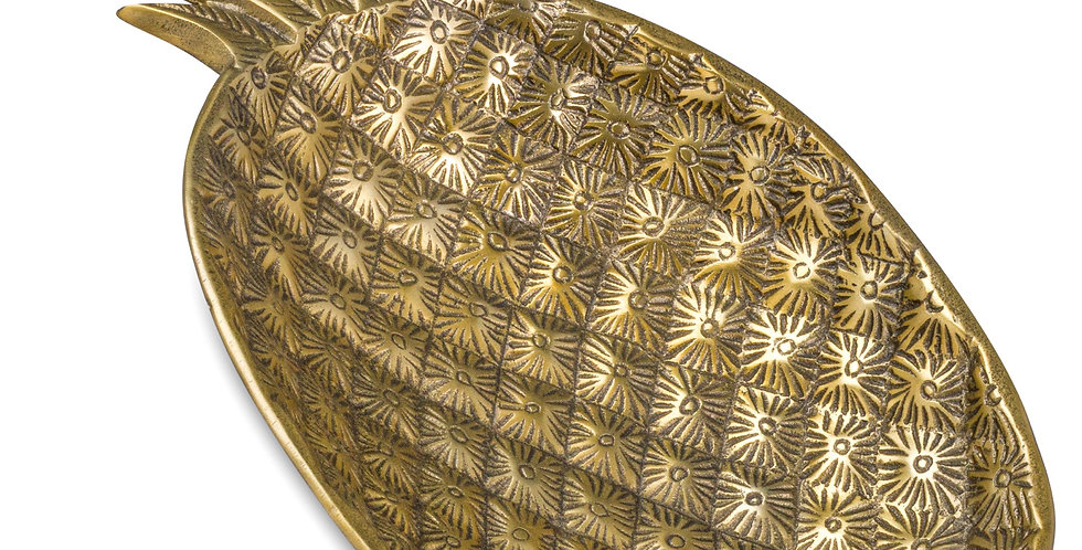 Ohlson Antique Brass Decorative Pineapple Dish.