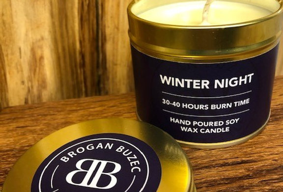 Winter Night Soy Wax Tin Candle