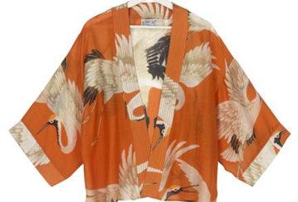 Stork Kimono - Orange - One Hundred Stars