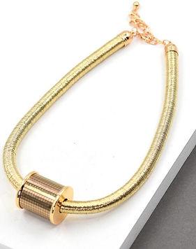 Barrel pendant short necklace - Gold.jpg