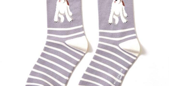Fox Terrier Stripes - Light Grey