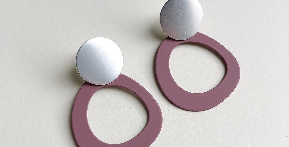 Halo Earrings - Damson/Silver - Jack and Freda