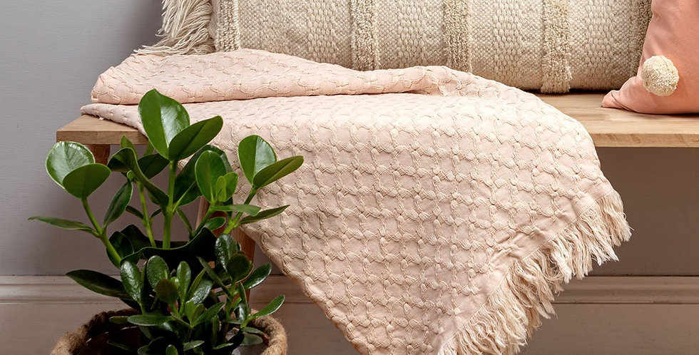 Blush Cotton Throw