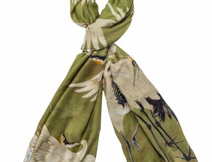 Stork Scarf -  Green - One Hundred Stars