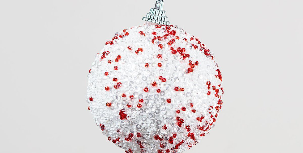 Bead and Sequin covered Foam Bauble