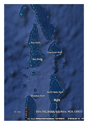 Northern atolls map