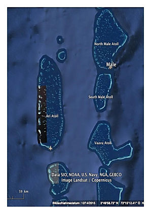 Central atolls map
