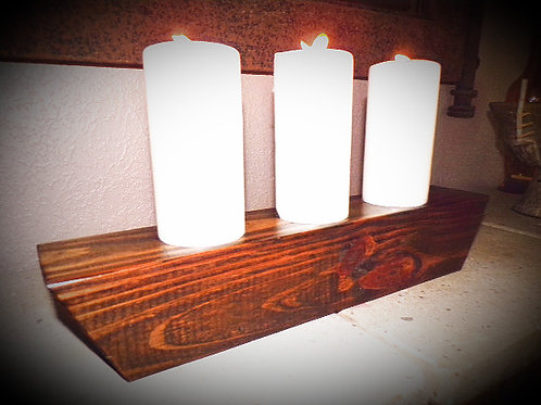 Reversible Trapazoid Candle Holder
