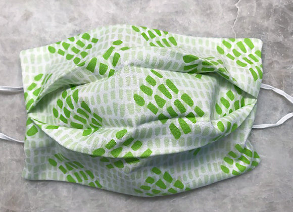 Bits and Pieces - Green, Reversible Face Mask