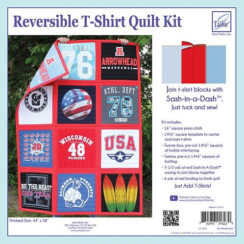 Reversible T-Shirt Quilt Kit - Red Sashing