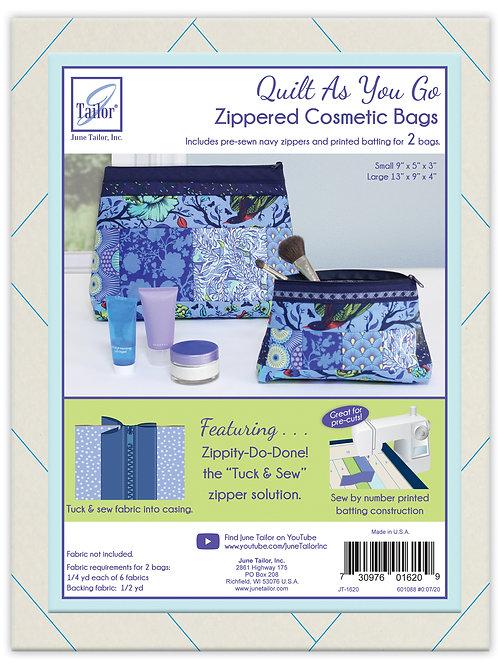 Zippity Do Done Cosmetic Bags (2) - Navy Zipper