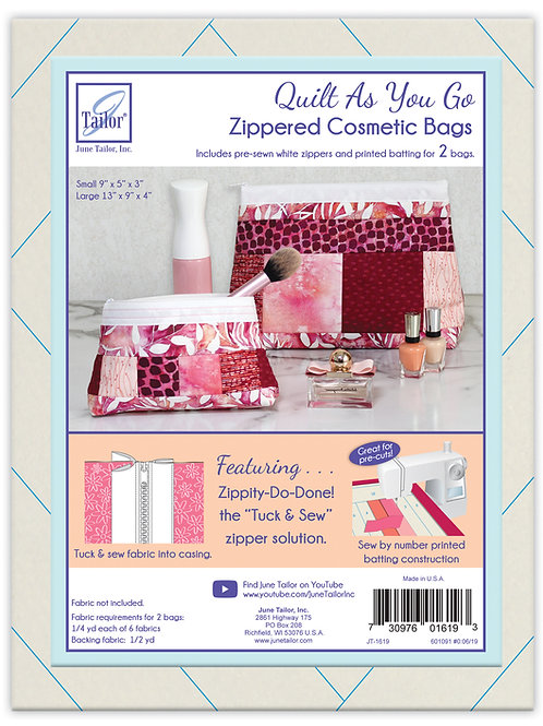 Zippity Do Done Cosmetic Bags (2) - White Zipper