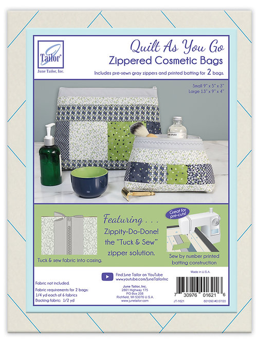 Zippity Do Done Cosmetic Bags (2) - Lt Gray Zipper