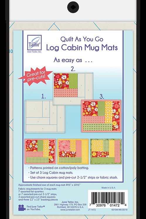 Mug Mats - Log Cabin - Quilt As You Go - 3 pack