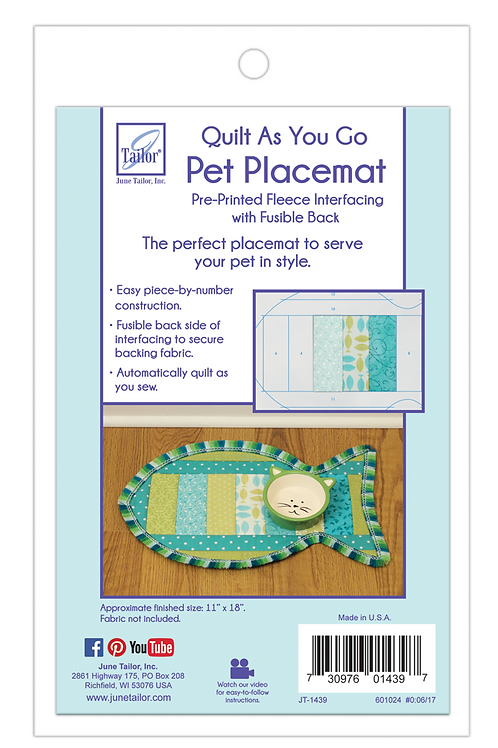 Pet Placemat - Cat Fish - 1/pack