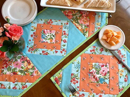 Quilt As You Go Table Runner and Placemat Kit