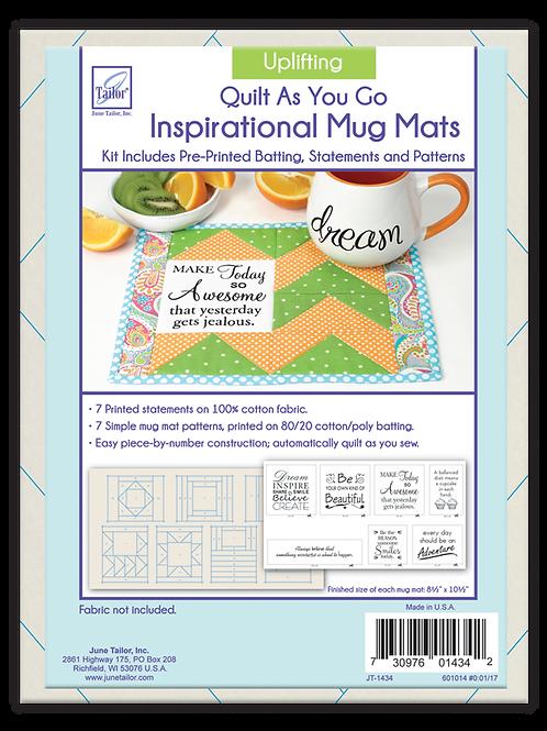 Inspirational Mug Mat - Uplifting - Quilt As You Go