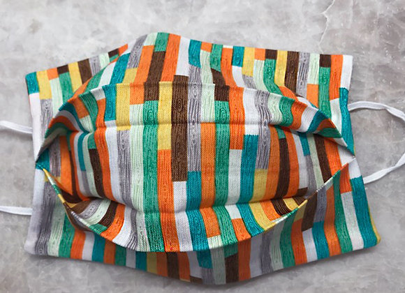 Strips to Stripes - Multi Color, Reversible Face Mask