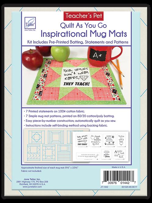 Inspirational Mug Mats - Teacher's Pet - Quilt As You Go