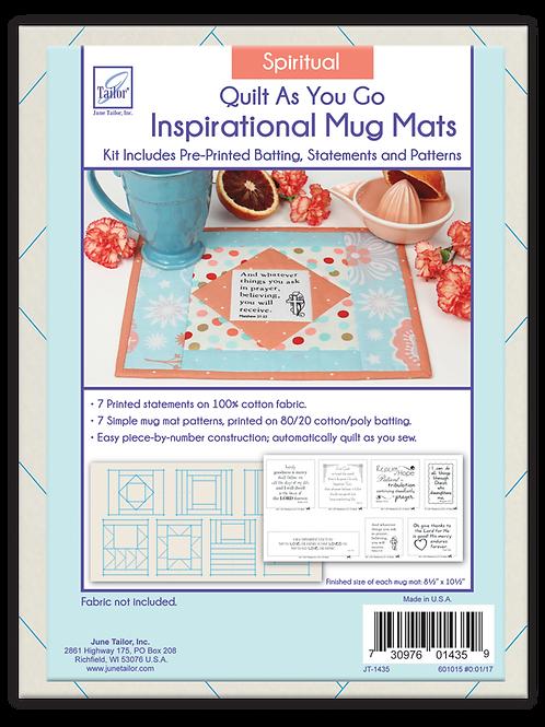 Inspirational Mug Mats - Spiritual - Quilt As You Go