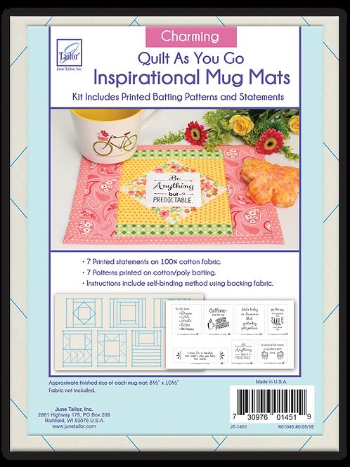 Inspirational Mug Mats - Charming - Quilt As You Go