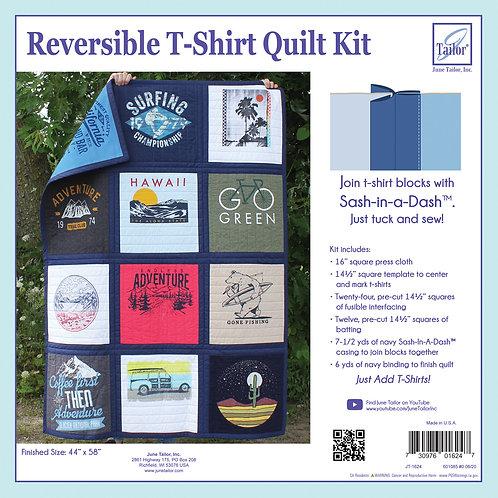 Reversible T-Shirt Quilt Kit - Navy Sashing