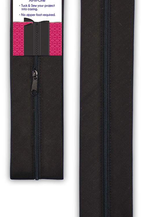 "Zippy Do Done 18"" Black zipper with pull"